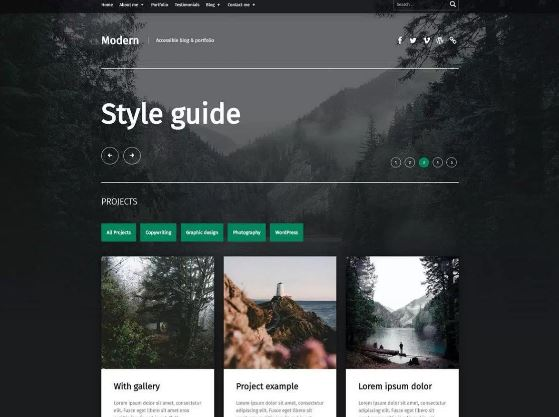 Modern Free WordPress Theme For Porfolio Blog Min