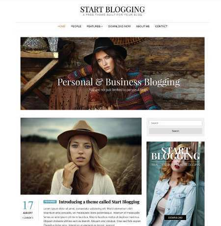 Start Blogging Theme The Best Responsive WordPress Theme Min