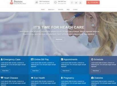 The Doctor Free WordPress Theme For Medical Min
