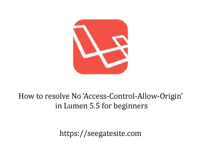 How to resolve No Access Control Allow Origin in Lumen 5.5 for beginners min