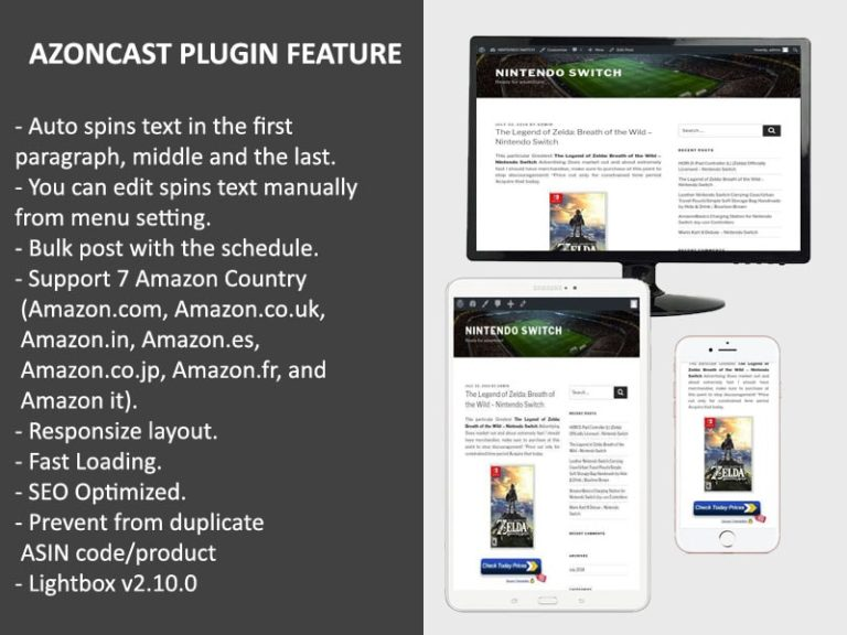 Azoncast Plugin Best Auto Amazon Wordpress Tools For Amazon Site Min