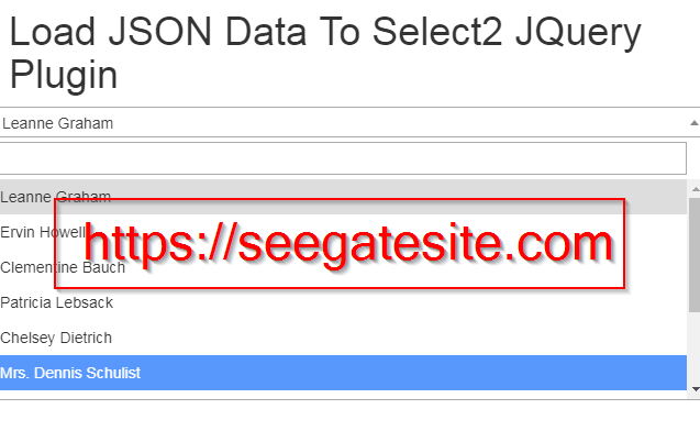 ADD JSON DATA TO SELECT2 JQUERY PLUGIN Seegatesite.com Min