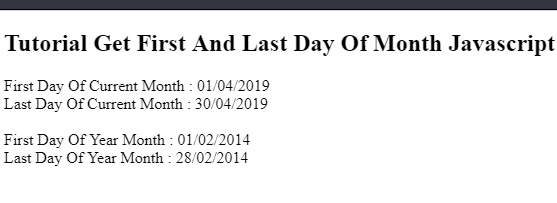 How To Get First Dayand The Last Day Of Current Month Javascript Min
