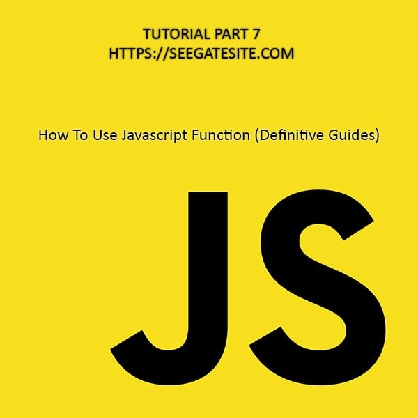 Tutorial Javascript Function Complete Reference