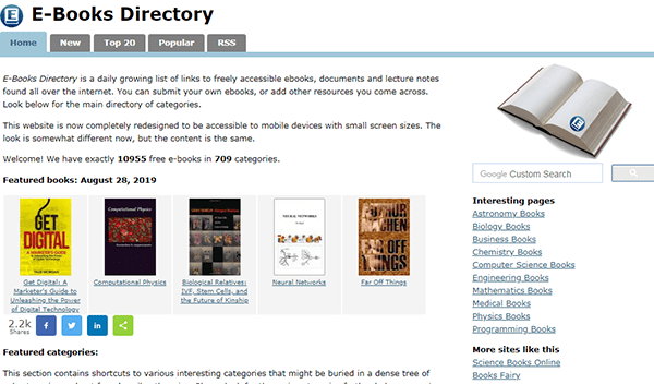 E Books Directory Free Ebook Shared Min