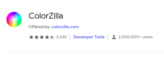 Color Zilla Chrome Extentions For Programmers Min